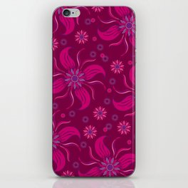 Floral Obscura Wine iPhone Skin