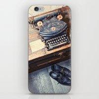 typewriter iPhone & iPod Skins featuring Typewriter by Shaun Lowe