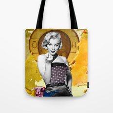 Golden Marilyn Monroe  By Zabu Stewart Tote Bag
