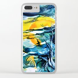 WinterFullMoon Clear iPhone Case
