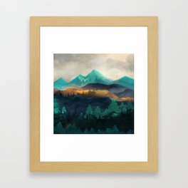 Green Wild Mountainside Framed Art Print