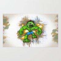 hulk Area & Throw Rugs featuring Hulk by alexviveros.net