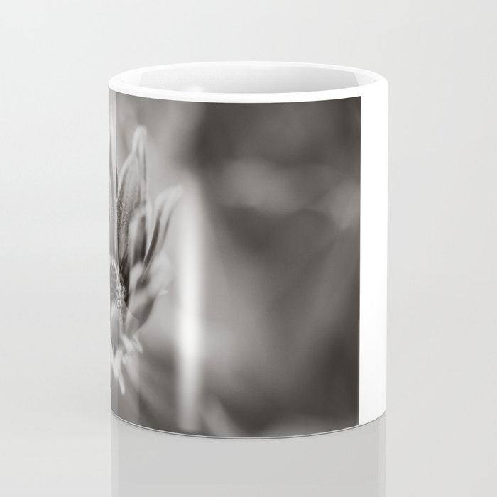 Flower in Black and White Coffee Mug
