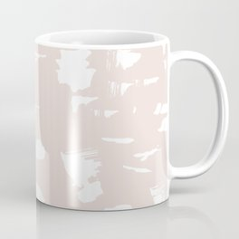 Marble stone soft pastel blush nude abstract neutral texture Coffee Mug