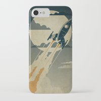 poster iPhone & iPod Cases featuring Night Launch by Danny Haas
