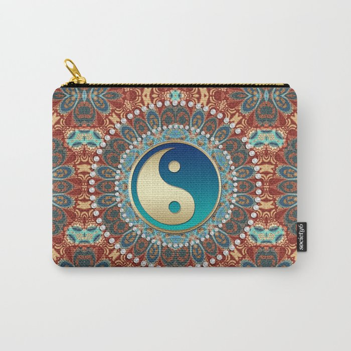 Bohemian Batik Yin Yang Carry-All Pouch