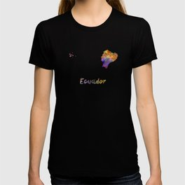 Ecuador in watercolor T-shirt