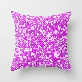 Dazzling Violet Pixels Throw Pillow