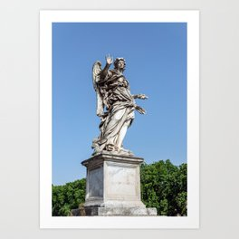 Angel with the Nails at the Sant'Angelo bridge - Rome, Italy Art Print