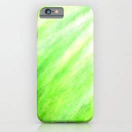 Tidal 3 Fresh Green with Yellow Nature - Abstract Art Series iPhone Case