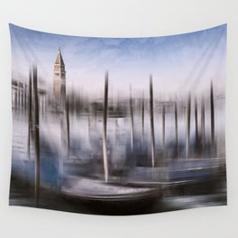 Digital-Art VENICE Grand Canal and St Mark's Campanile Wall Tapestry