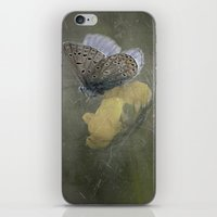matty healy iPhone & iPod Skins featuring Blue butterfly on blossom by UtArt