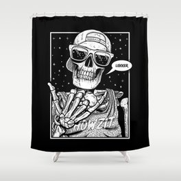 Kiff Bru - Lekker Skeleton Shower Curtain
