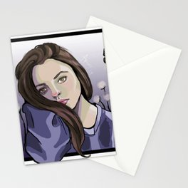 Pondering (a self portrait) Stationery Cards