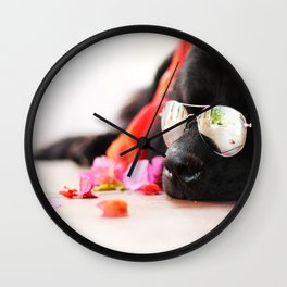 Summer Bear Wall Clock