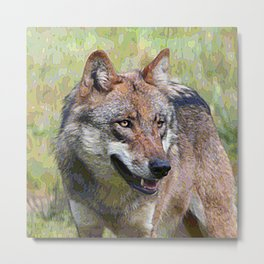AnimalPaint_Wolf_20171201_by_JAMColors Metal Print