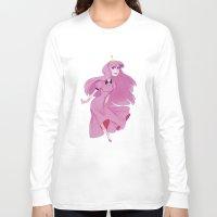 princess bubblegum Long Sleeve T-shirts featuring princess bubblegum by Javiera Esquer