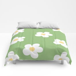Retro 60's Flower Power Print Comforters