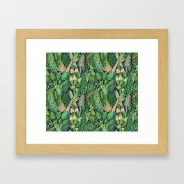 Dark Jungle Framed Art Print