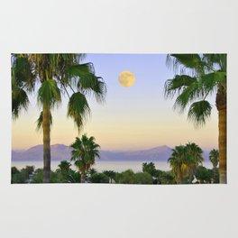 Palms on Full Moon Rug