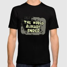 The World Already Ended Mens Fitted Tee Black MEDIUM