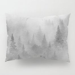 Foggy sunrise. BW. Pinsapos into the woods. Square Pillow Sham