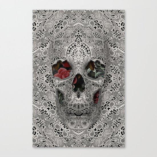 Lace Skull 2 Canvas Print