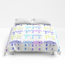 Painted Houses Comforters