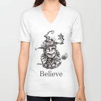 oz V-neck T-shirts featuring Oz by artlandofme