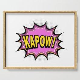KAPOW! Comic Book Serving Tray
