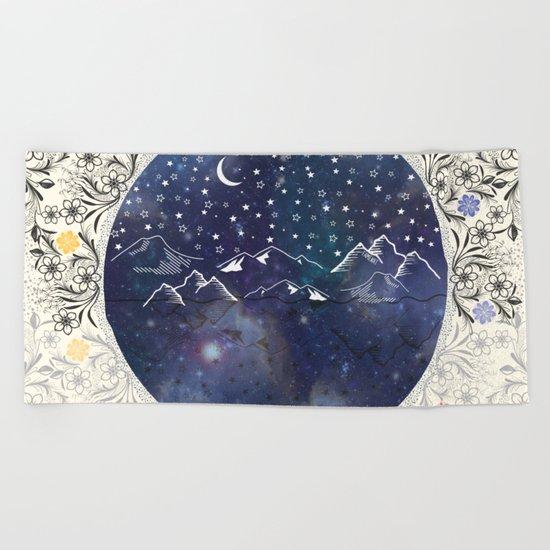 Beautiful starry night Beach Towel