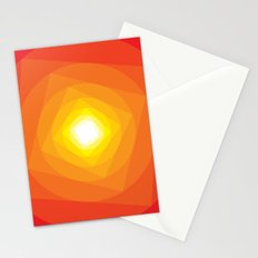 Gradient Sun Stationery Cards