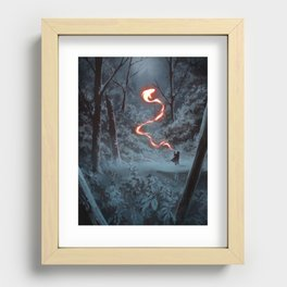 Friendly Fire Recessed Framed Print