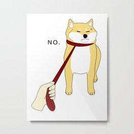 Shiba Inu No Metal Print