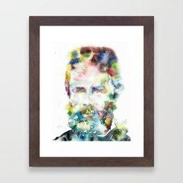 HERMAN MELVILLE - watercolor portrait.2 Framed Art Print
