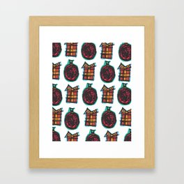 Christmas Ornaments Framed Art Print