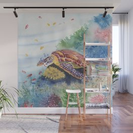 Sea Turtle and Friends Wall Mural