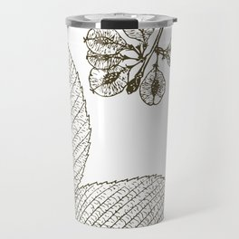 Leaves and Seeds Travel Mug