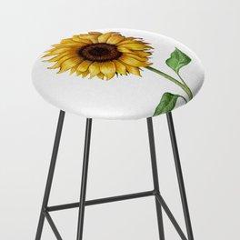 Yellow Sunflower Painting Bar Stool