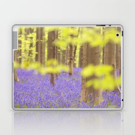 Bluebell forest in full bloom Laptop & iPad Skin