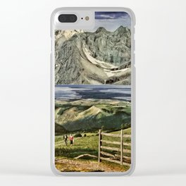 Boundless Bliss Clear iPhone Case