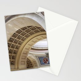 Wisconsin Capitol Building Arches And Angles Stationery Cards
