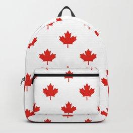 Large Tiled Canadian Maple Leaf Pattern Backpack