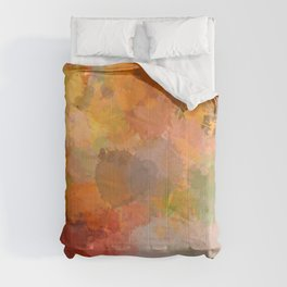 Modern contemporary Yellow Orange Abstract Comforters