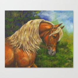 Sorrel Horse with Light Mane Canvas Print