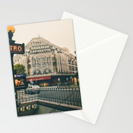 France Photography - Metro Station In Paris Stationery Cards