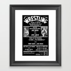 #1-B Memphis Wrestling Window Card Framed Art Print
