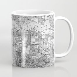 Vintage Map of Vancouver Canada (1920) BW Coffee Mug