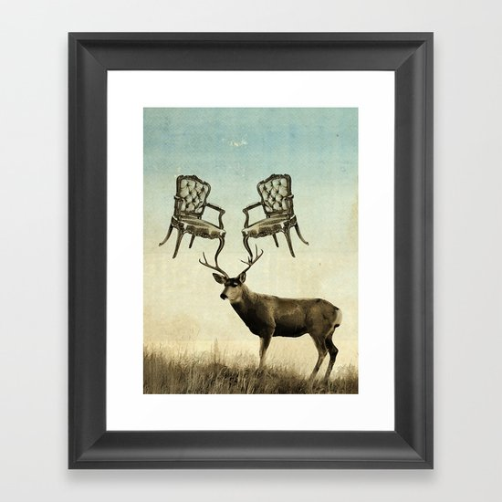 louis xv stag chairs Framed Art Print