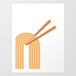 Double Chops Art Print